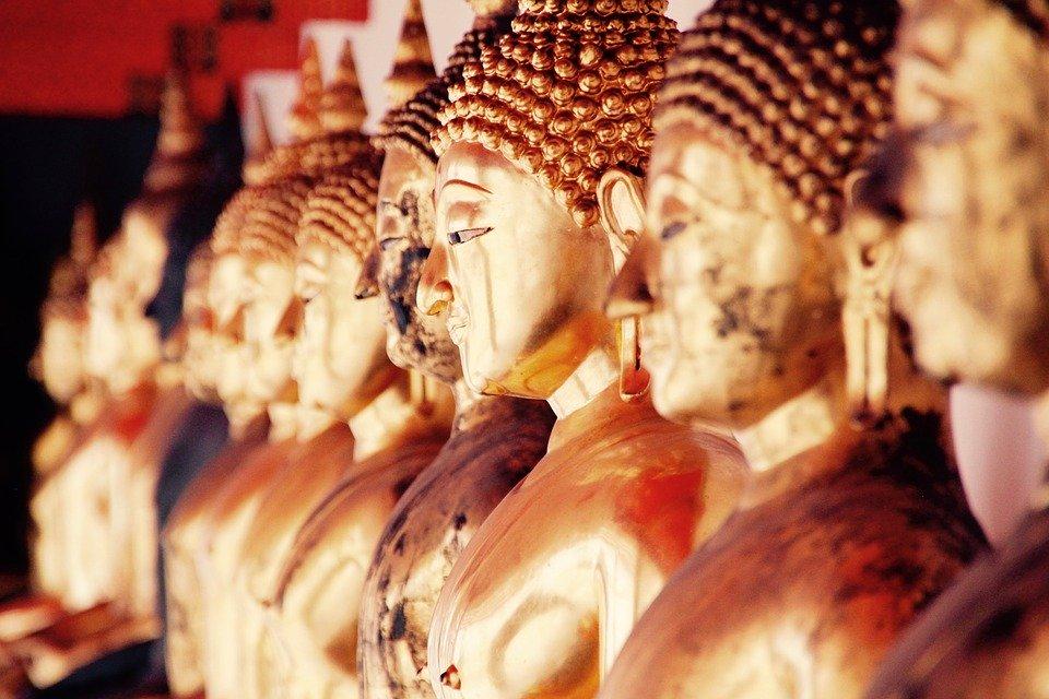 Bangkok, Buddha, Gold, Meditation, Buddhism, Thailand